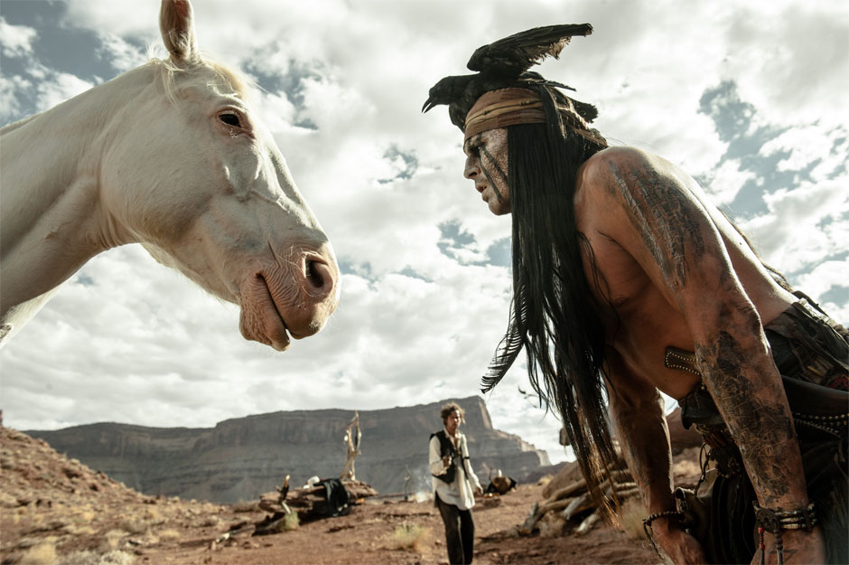 horse and Tonto in Lone Ranger