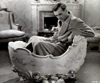 Gary Cooper in a bathtub