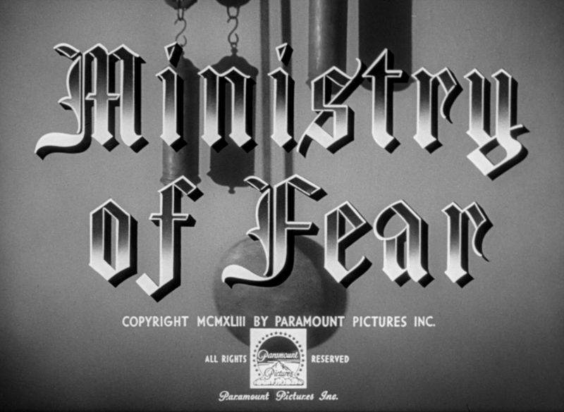 ministry of fear title screen